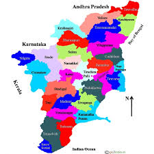 tamil nadu map tamilnadu travel places to visit