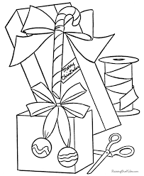 free printable christmas coloring sheets presents