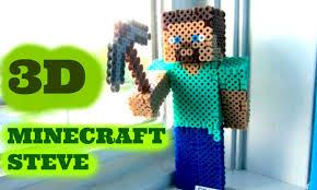 3d perler bead minecraft steve figure full tutorial youtube