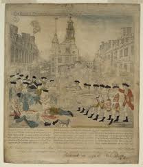 Boston Map 1770 by The Bloody Massacre Perpetrated In King Street Boston On March