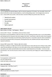 Restaurant Resume Samples by Waitress Resume Sample Jennywashere Com