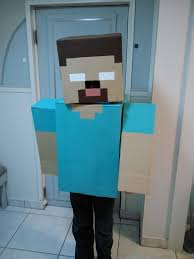 Minecraft Enderman Halloween Costume Minecraft Costume Herobrine Boxes Paint