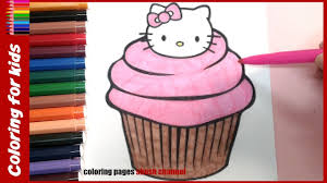 hello kitty cupcake coloring pages from coloring pages shosh