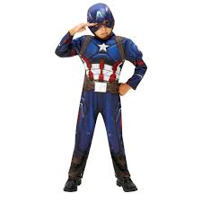 Captain Halloween Costume Marvel Civil War Deluxe Captain America Costume Medium