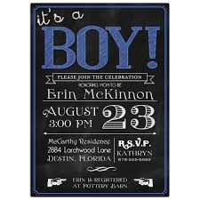 boy baby shower invitations chalkboard with blue its a boy baby shower invitations paperstyle