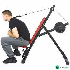 Fitness Gear Ab Bench Abdominal Abs Crunch Machine Six Packs Pro Abs Cruncher Toner Gym