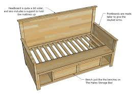 how to build a daybed with trundle ana white storage drawers diy