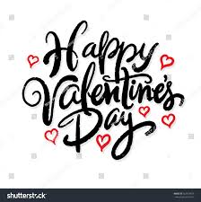 happy valentines day lettering hearts hand stock vector 557674078