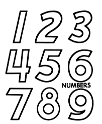 counting activity sheets cut out numerals large numbers 1