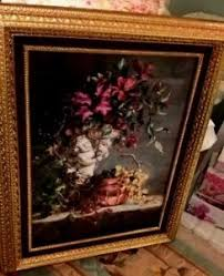 homco home interior cherub vintage floral fruit picture homco home interior 31