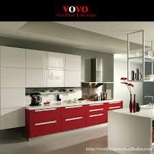 Glossy White Kitchen Cabinets Online Get Cheap Red Kitchen Cabinet Aliexpress Com Alibaba Group