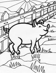 unique coloring pages of pigs kids design gall 8063 unknown