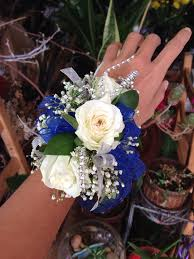 white corsages for prom blue magical wrist corsage a better bloom florist