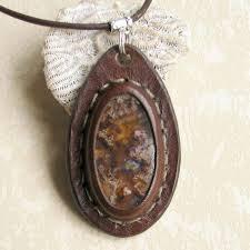 stone pendant leather necklace images 41 best leather stones images leather bracelets jpg