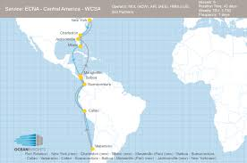 Map Of South And Central America by Mol Apl And Hmm Add East Coast North America Ports To Their