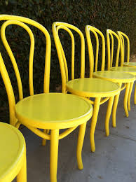 Yellow Bistro Chairs Vintage Bentwood Chairs Set Of 6 Dining Chairs Custom Color