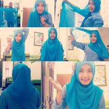 tutorial memakai jilbab paris yang simple memakai jilbab paris terbaru modern
