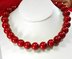 large beads necklace images 13 14mm red coral large beads knotted filled necklace 18 quot in jpg