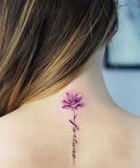 fortune flower quote tattoos on neck for styles beat