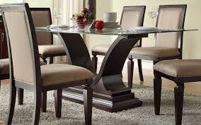 Wood For Glass Dining Table Base Boundless Table Ideas - Glass dining room table bases