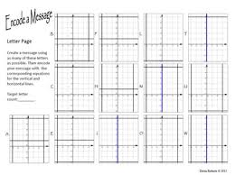 u0026 vertical lines graph u0026 write equations activity worksheet
