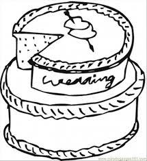 wedding cake clipart coloring printable pencil color