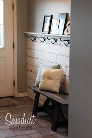 Diy Entry Table by Diy Entry Way Plank Wall Tutorial Planked Walls