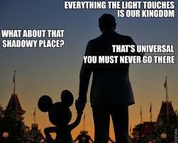 Disney World Meme - everything the light touches walt disney world meme walt mickey