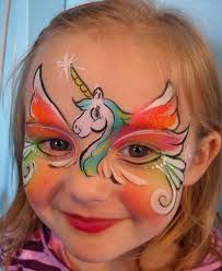 coloring page attractive face paint for kids 5 frozen painting