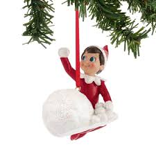 enesco ornaments on the shelf throwing snowballs ornament 4039735