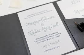 calligraphy invitations calligraphy wedding invitation in platinum grey pocketfold