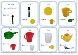 nom de materiel de cuisine travailler le langage grâce à la dinette méli mélo de ma classe