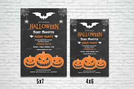halloween party flyer template v400 flyer templates creative
