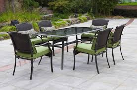 Dining Tables   Piece Patio Dining Set With Umbrella Round Patio - 7 piece outdoor dining set with round table