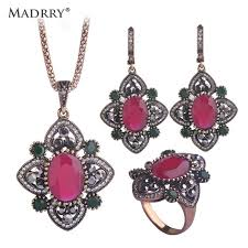 aliexpress vintage necklace images Buy madrry vintage turkish jewelry sets necklace jpg
