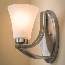 Shop Bathroom  Wall Lighting At Lowescom - Bathroom vanity light with outlet