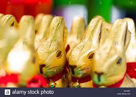 lindt easter bunny easter bunny lindt chocolate on shelves in supermarket for sale
