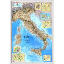 Apulia Italy Map by 1995 Italy Map National Geographic Store