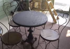 ice cream table and chairs ice cream parlor bistro shop twisted iron chairs table sweetheart
