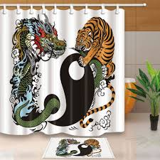 popular shower bed buy cheap shower bed lots from china shower bed dragon and tiger bed bath shower curtain bedroom waterproof fabric 12 hooks china mainland