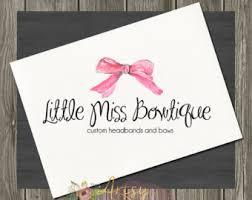 bowtique hair bows hair bow logo etsy