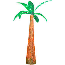 shop gemmy metal palm tree light at lowes