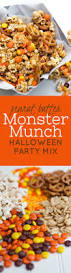 peanut butter monster munch halloween party mix recipe monster