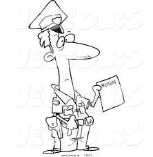 cop cartoon drawing