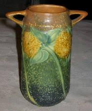 Roseville Pinecone Vase Roseville Sunflower Ebay
