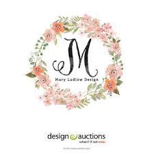 monogram websites premade logo design watercolor logo from designauctionsnow on
