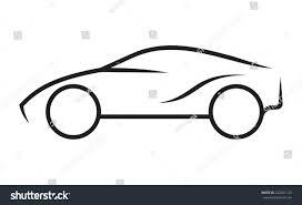 porsche vector car line art stock vector 222001123 shutterstock