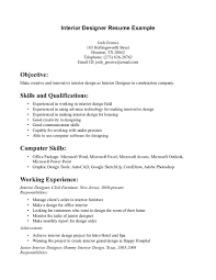 interior designer resume sample sample kitchen designer resume