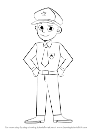 learn how to draw a policeman other occupations step by step