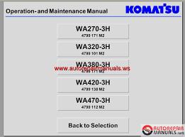 komatsu wheel loader wa270 3h wa320 3h wa380 3h wa420 3h wa470